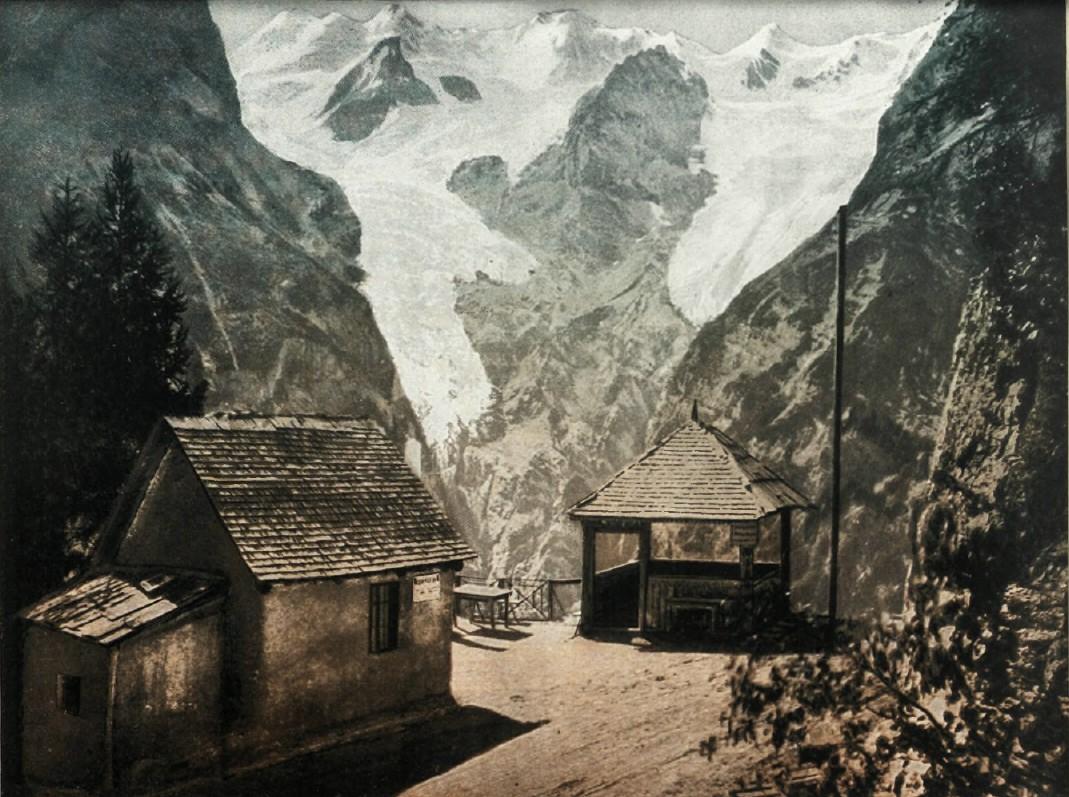 Виды Австро-Венгрии. Тироль. Штильфский горный проход (Stilfser Joch) в Ретических Альпах.