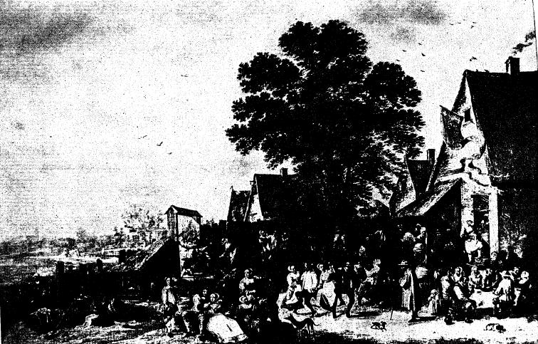 Д. ТЕНИРС (1610—1690). ДЕРЕВЕНСКИЙ ПРАЗДНИК. (Ленинград. Эрмитаж).