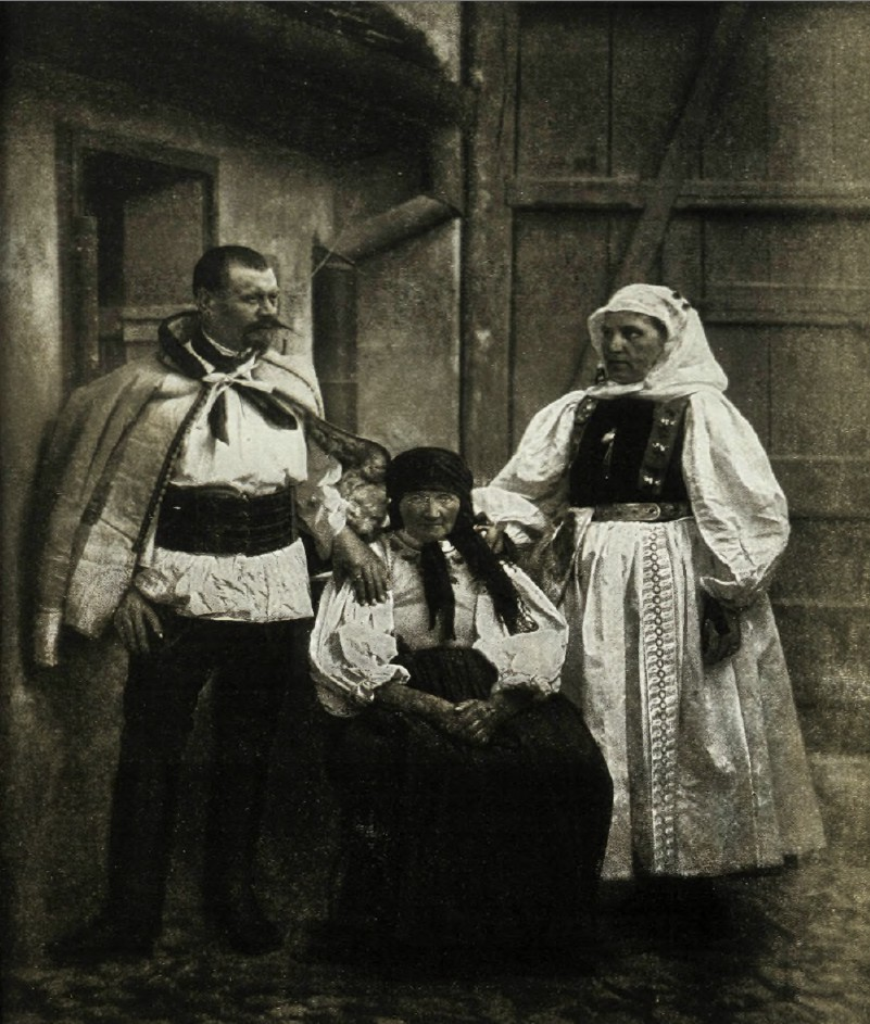 Виды Австро-Венгрии.  Семитрадия. Типы саксонцев из Гамерсдорфа.