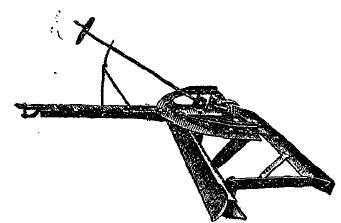 Рис. 4. Дорожный пленер для профилирования дорог с тяжелыми грунтами. Приспособлен для работы с трактором «Фордзон».