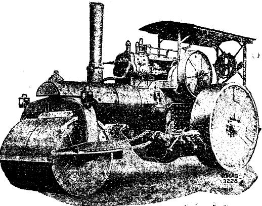 Рис. 7. Паровой трехколесный каток B.M.A.G.