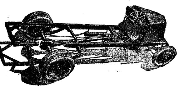 Рис. 2. Шасси 2-х тонного шестицилиндрового грузового автомобиля Рено.