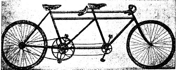 Рис. 2. Двухместный велосипед (тандем).