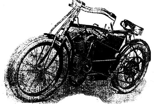 Рис. 1. Мотоцикл выпуска 1905 г. фирмы Лаурен-Клемент.