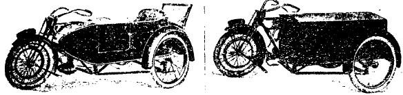 Рис. 5. Мотоцикл с прицепкой «В.S.A.» с двухцилиндровым двигателем.