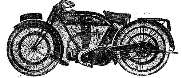 Рис. 2. Мотоцикл «B. S. A.» (Англия) с одноцилиндровым двигателем.